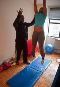 Full body - squat thrusts