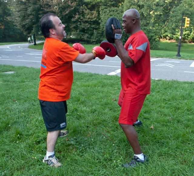 Martial arts exercise - 200 punches in horse stance